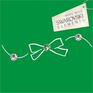 Obr. 47 swarovski 1 zelený 2 biele