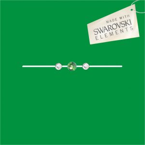 Obr. 48 swarovski 1 zelený 2 biele