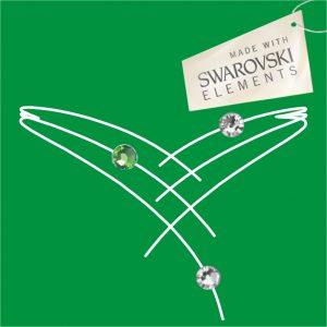 Obr. 49 swarovski 1 zelený 2 biele