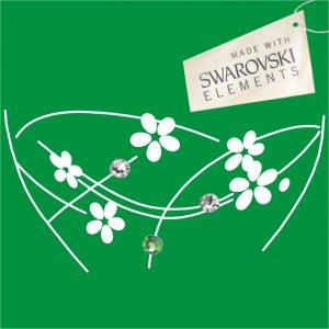 Obr. 51 swarovski 1 zelený 2 biele